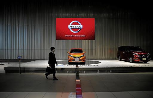 A man walks in the Nissan showroom at the car maker's headquarters in Yokohama, Japan, in May 2017. Picture: REUTERS