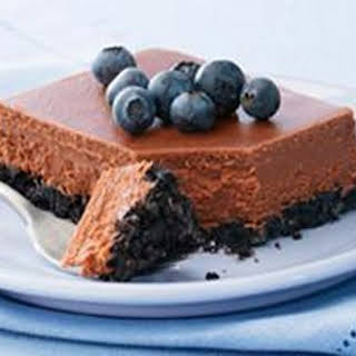 PHILADELPHIA Double-Chocolate Cheesecake.