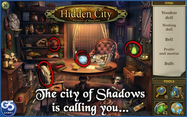 android Hidden City:Mystery of Shadows Screenshot 0