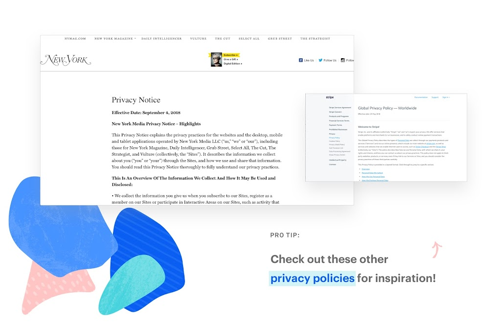 Here Are A Few Simple Privacy Policy Examples That Will Work For Your Small Business Website Each Of The Guide You On How To Make