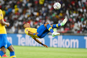 Andile Jali of Mamelodi Sundowns during the Absa Premiership match between Orlando Pirates and Mamelodi Sundowns at Orlando Stadium on January 15, 2020 in Johannesburg, South Africa.