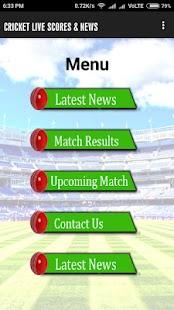 Cricket Live Scores & News for PC-Windows 7,8,10 and Mac apk screenshot 2