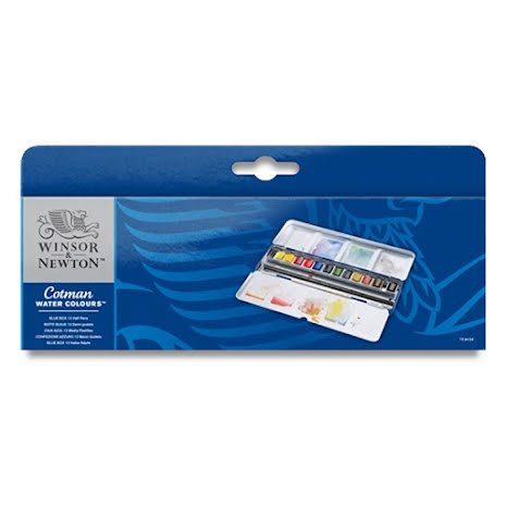 W&N Cotman Blue Box 12st 1/2k