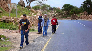 Photo: Our Executive Manager walking with guys