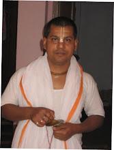 Photo: Sri Brajabandhu Brahmachari - the resident prinary sevait and incharge of the ashram
