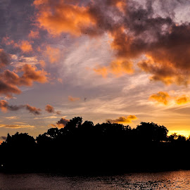 sunset by Shakifa Fitri - Nature Up Close Water ( nature, sunset )