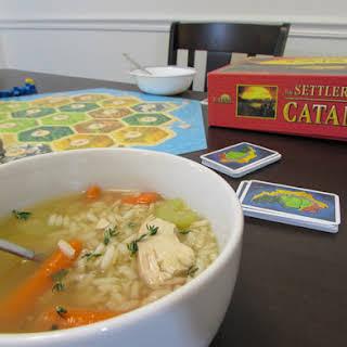 Gluten Free Chicken and Rice Soup #WeekdaySupper.