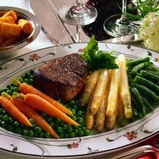 Chateaubriand mit Gemüse und Kroketten