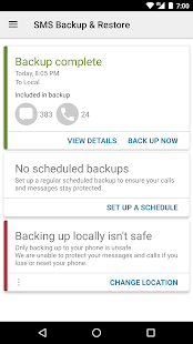 SMS Backup & Restore Screenshot