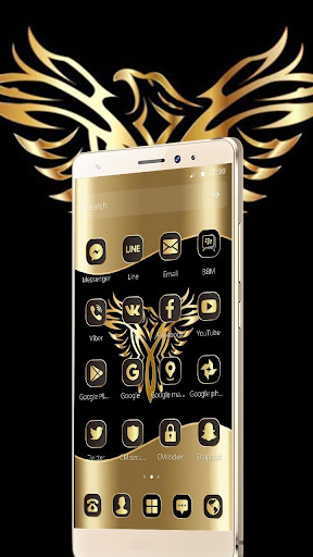 Gold Luxury Eagle Theme 1.1.3 screenshots {n} 2
