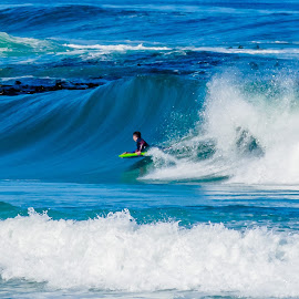 Bellyboard surfing at Onrus by Simon Shee - Sports & Fitness Surfing ( 2017, ocean, surfing, south africa, hermanus area )