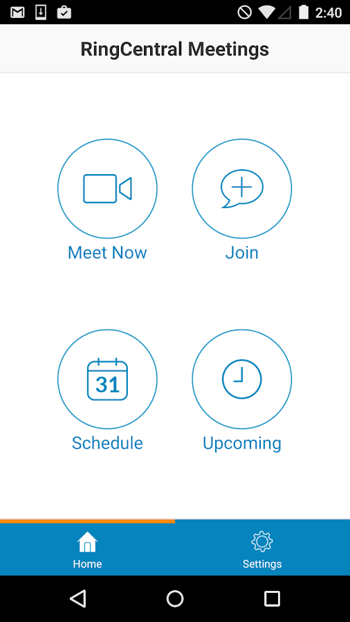 RingCentral Meetings- screenshot