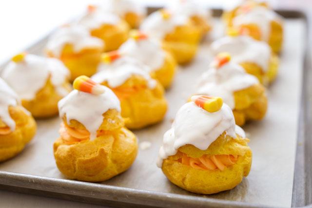 Candy Corn Cream Puffs Recipe | Yummly