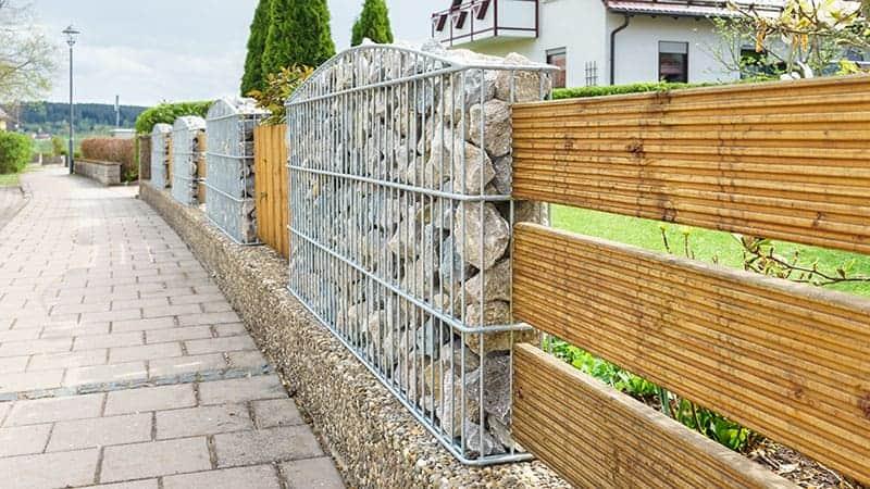 Contemporary Gabions Garden Fencing Idea