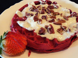Red Velvet Waffles With Cream Cheese Glaze Recipe