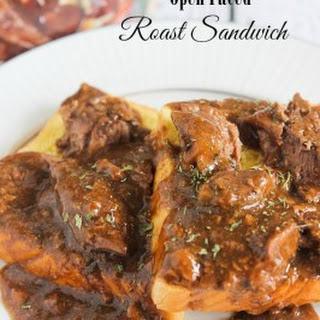 Open Faced Roast Sandwich.