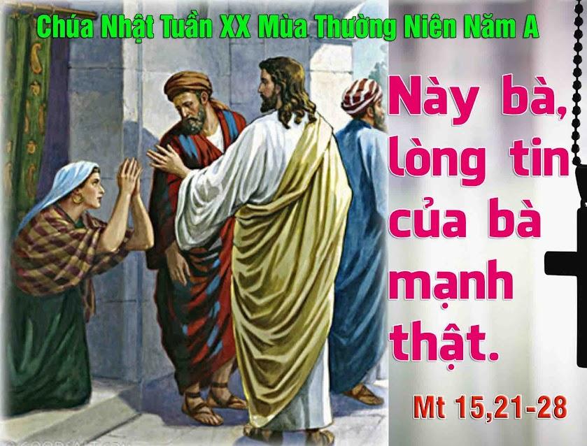 Nghe giảng Chúa nhật XX thường niên năm A (2014)