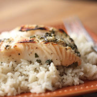 Lemony Garlic and Herb Halibut.