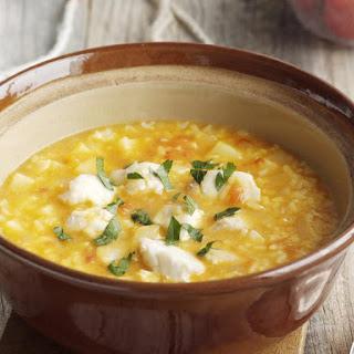 Rice, Potato and Fish Soup.