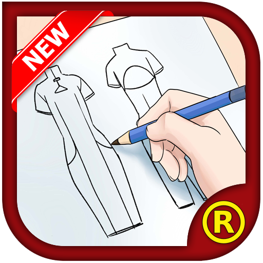 Fashion Design Flat Sketch New 遊戲 App LOGO-硬是要APP