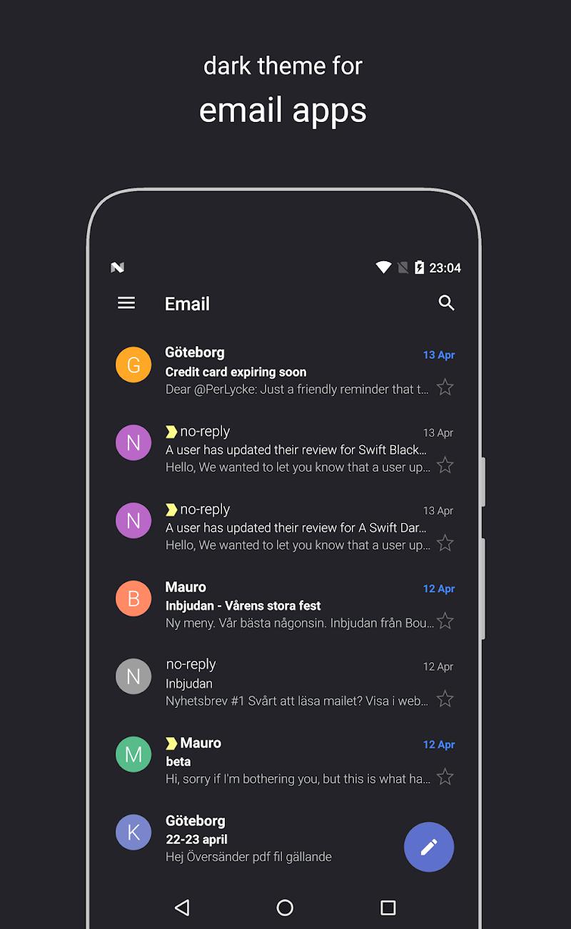 Swift Dark Substratum Theme Screenshot 4