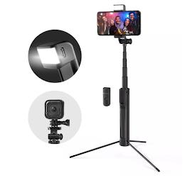 Selfie Stick Tripod BlitzWolf cu lanterna LED si telecomanda