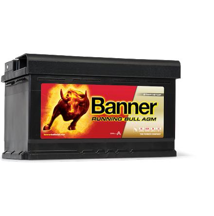 Startbatteri Banner AGM RB12V/80Ah