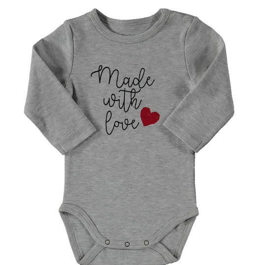 Baby Body Long Sleeve Made With Love Crossbow