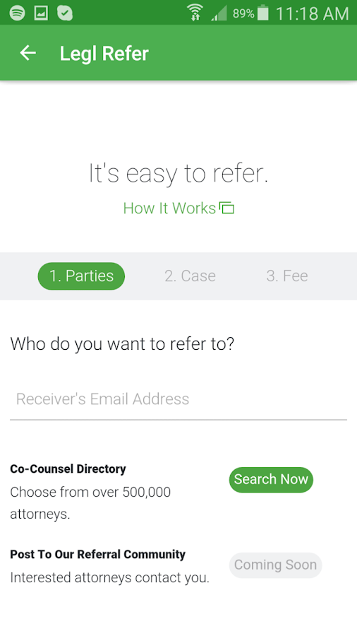 Legl Refer- screenshot
