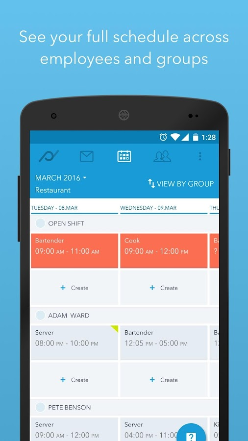 Planday Employee Scheduling- screenshot