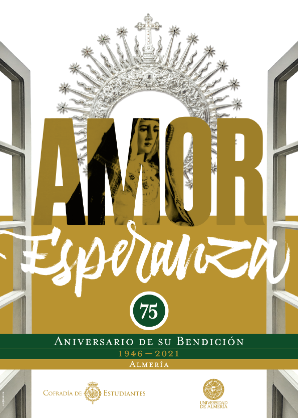 Cartel del 75 aniversario de la bendición de la Esperanza.