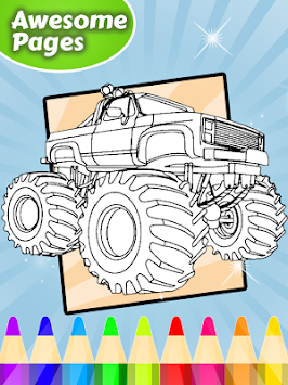 Coloring Pages Monsters Trucks