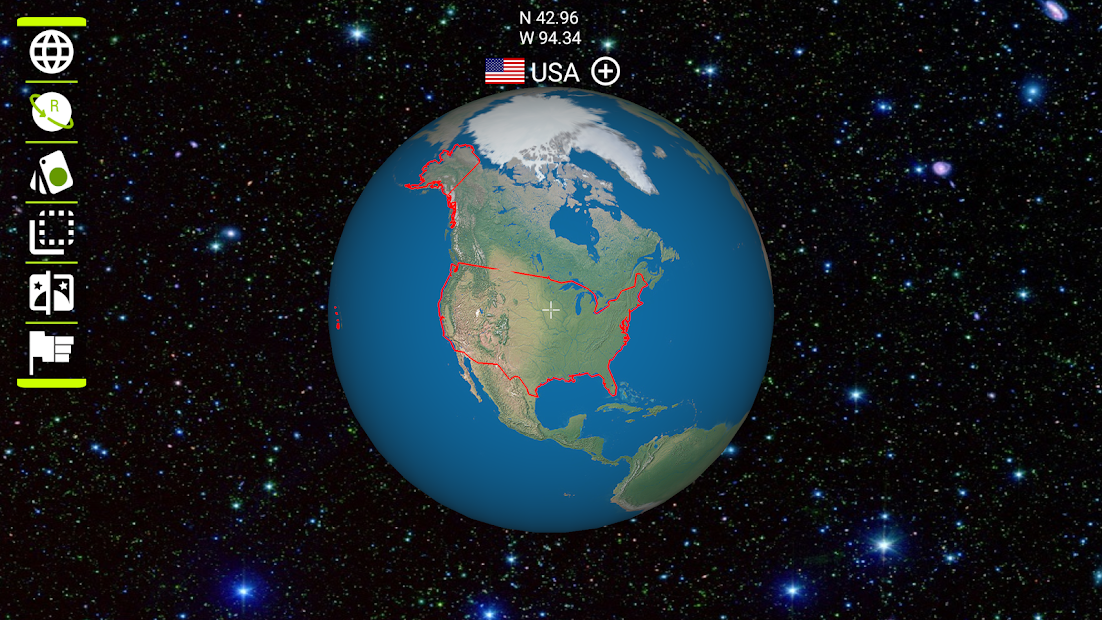 Earth 3D Android App Screenshot