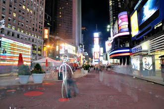 Photo: Times Square I - Light painting by Christopher Hibbert, french photographer and light painter. Further information: http://www.christopher-hibbert.com