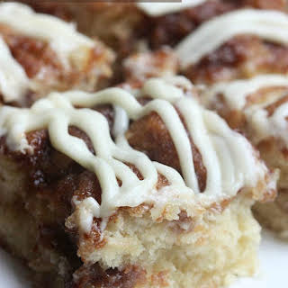 Cinnamon Roll Cake with Cream Cheese Frosting.