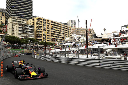Daniel Ricciardo passes the super-luxury yachts on his way to victory in Monaco. Picture: RED BULL CONTENT POOL