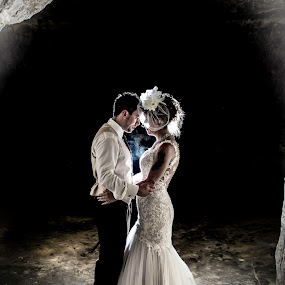 Cave wedding by Star Image - Wedding Bride & Groom ( weddingday, wedding, cave, bride, groom )