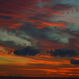 Sunset on clouds by Brenda Shoemake - Landscapes Cloud Formations (  )