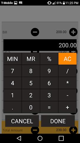 android Tip Calculator Screenshot 3