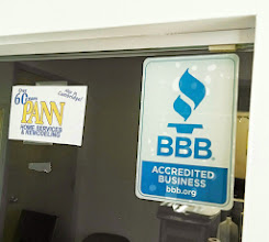 Photo: Pann Home Services & Remodeling in Woburn, MA proudly displaying their BBB Accreditation