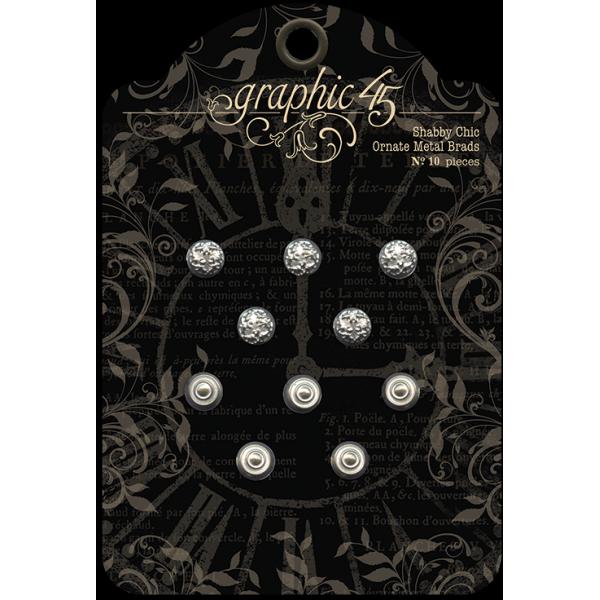 Staples - Shabby Chic Ornate Metal Brads