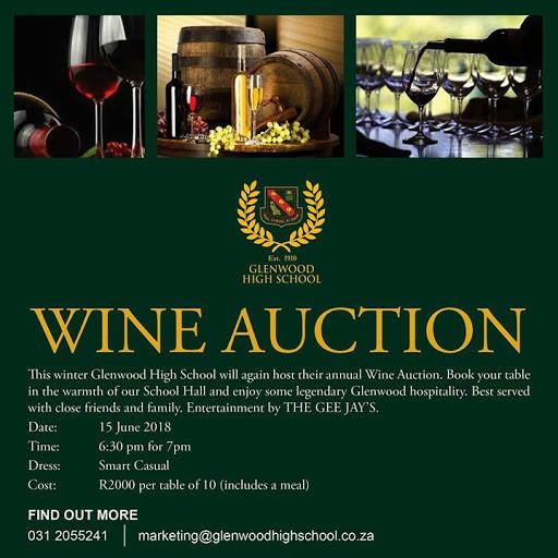 Glenwood Wine Auction : Glenwood High School