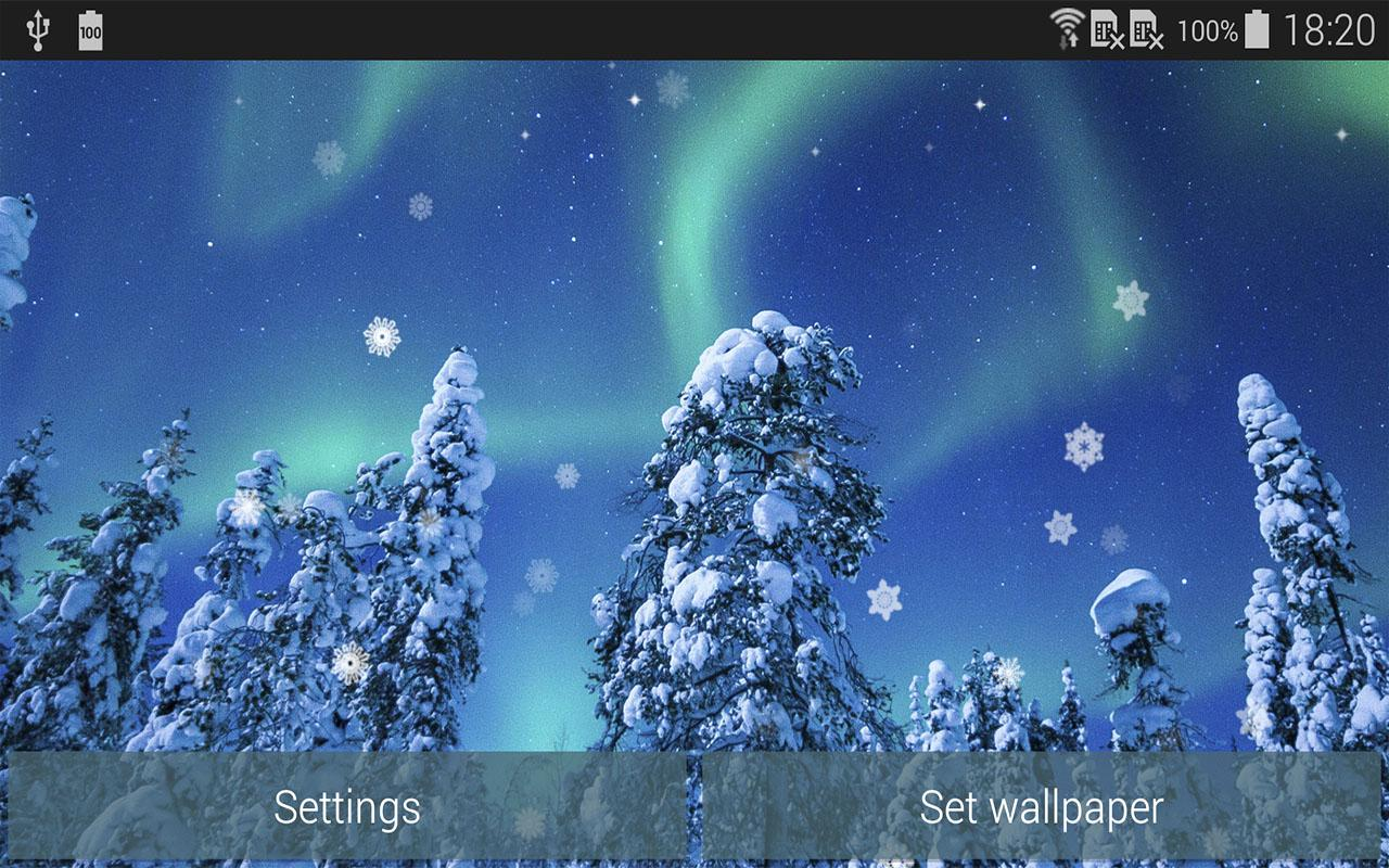 aurora winter live wallpaper android apps on google play