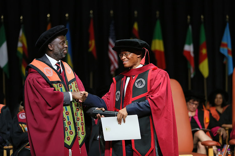 Chief Justice Mogoeng Mogoeng was awarded an honorary doctoral degree by the University of Johannesburg on Tuesday.