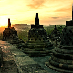 borobudur sunset...... by Rolando Eduard - Travel Locations Landmarks