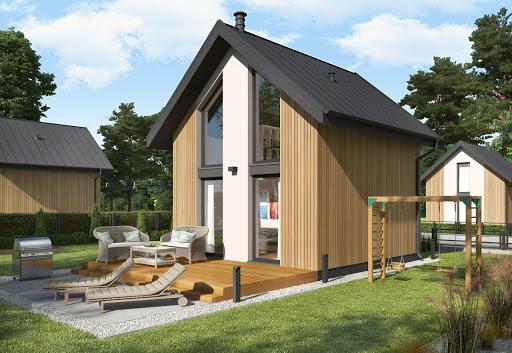 projekt Lido 3 C dom mieszkalny, całoroczny z antresolą