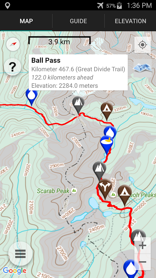 Great Divide Trail- screenshot