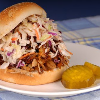 Slow Cooker Southern Pulled Pork with Coleslaw.