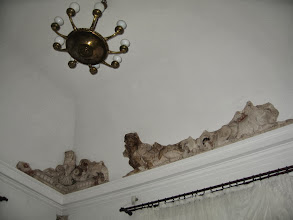 Photo: Gabinet Kryształowy. Pozostałości  oryginalnej sztukaterii