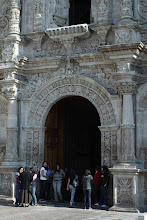 Photo: Frentera de la iglesia de San Agustin